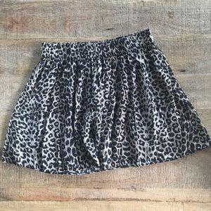 PINK leopard print skater skirt
